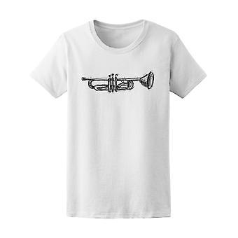 Trompet Doodle Tee Women's-beeld door Shutterstock