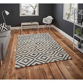 Eleganta 4893 grå vit rektangel mattor moderna mattor