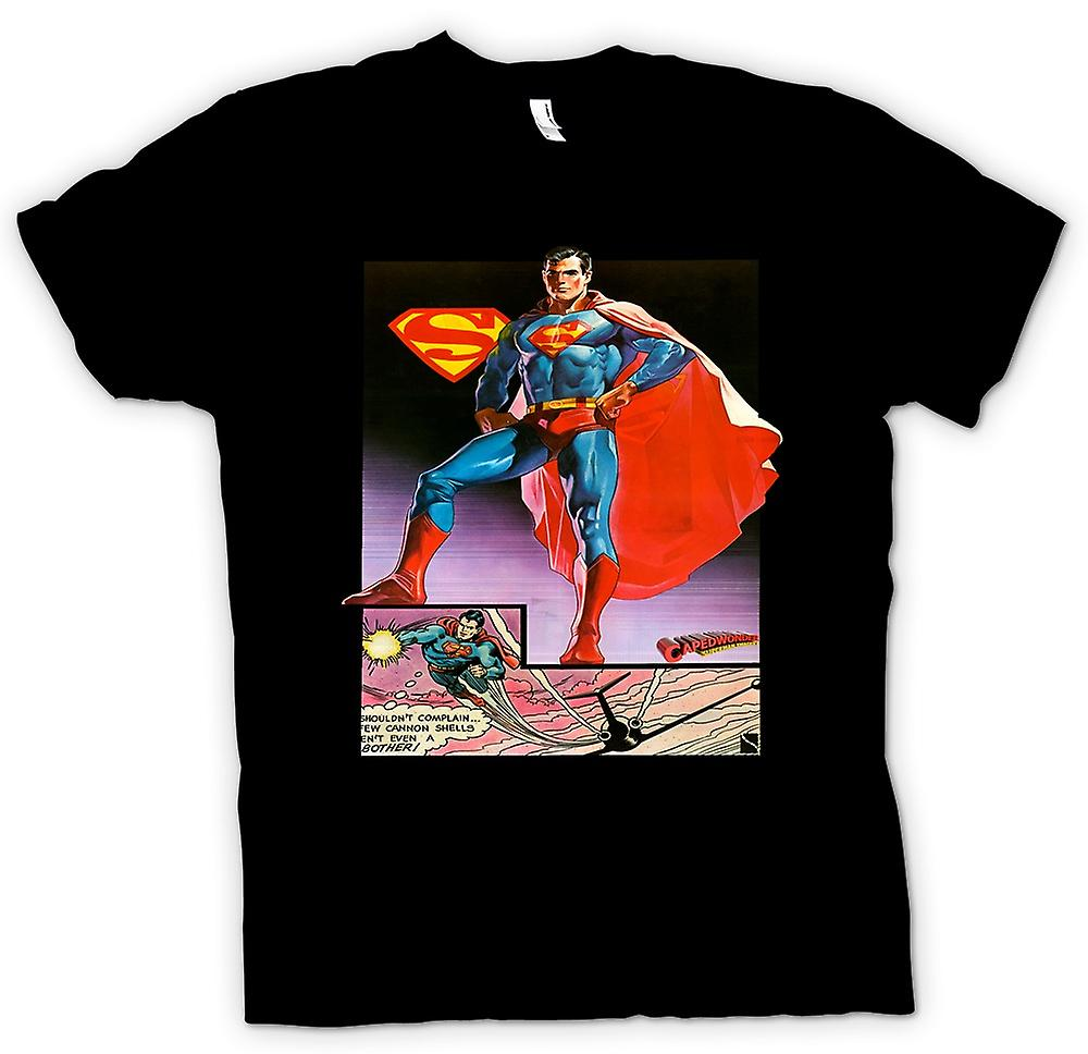 Mens t-shirt-Superman Caped meraviglia