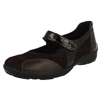 Ladies Easy B Mary Jane Style Flats Keighley