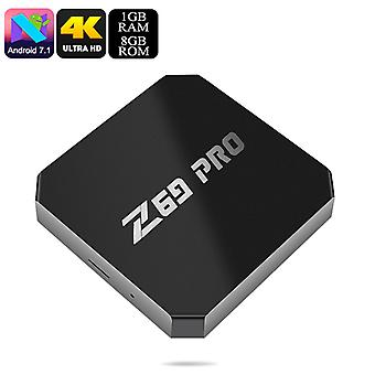 Z69 Max Pro Android TV Box - Quad Core CPU, Android 7.1, 4K, H.265 Decoding, Wi-Fi