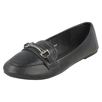 Dames plek op vlakke Loafer schoenen F80299