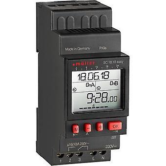 Müller SC 18.10 fácil NFC DIN rail montaje temporizador 230 V 16 A/250 V