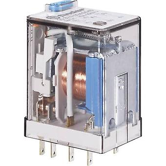 Plug-in relay 24 Vdc 7 A 4 change-overs Finder 55.