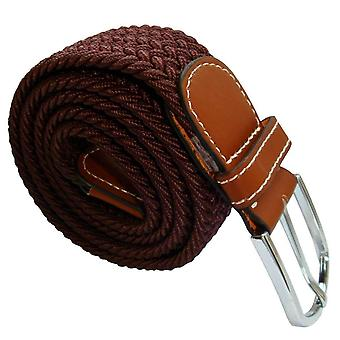 Bassin and Brown Plain Woven Belt - Brown