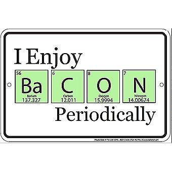Мне нравится бекон периодически забавный металлический знак
