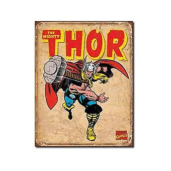 Mighty Thor (Throwing Hammer) Metal Sign