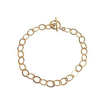 Gemshine - pulsera - unisex - - chapado en oro - 19 cm