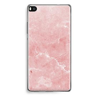 Huawei Ascend P8 Transparent Case (Soft) - Pink Marble