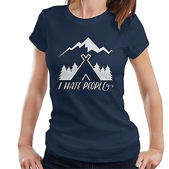 Odio la gente all'aperto Slogan t-shirt