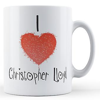 Decorative Writing I Love Christopher Lloyd Printed Mug