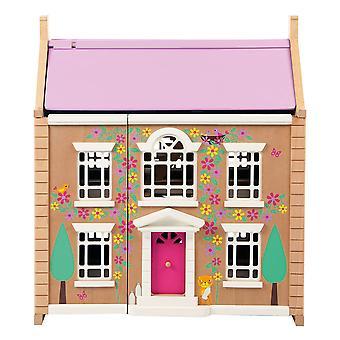Tidlo Wooden Children's Tidlington House Dollhouse Pretend Roleplay