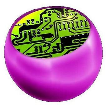 Ersatz Kugel Pink, Körperschmuck Piercing, Daten Chip grün | 1,6 x 5 und 6 mm