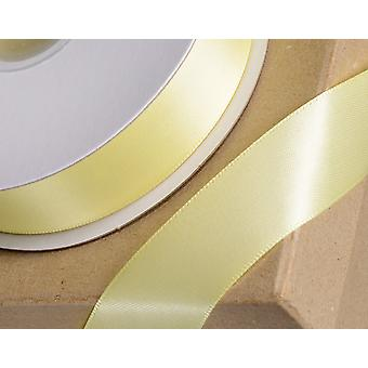 6mm Yellow Satin Ribbon for Crafts - 25m | Ribbons & Bows for Crafts