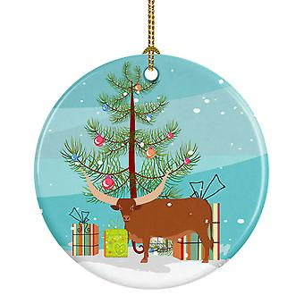 Carolines skatter BB9190CO1 Ankole-Watusu ku Christmas keramiske Ornament