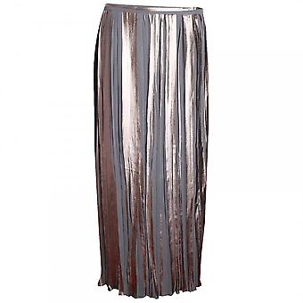 Paola Collection Crystal Pleated Long Skirt