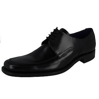 Mens Loake Black Polished Leather Shoes Artemis