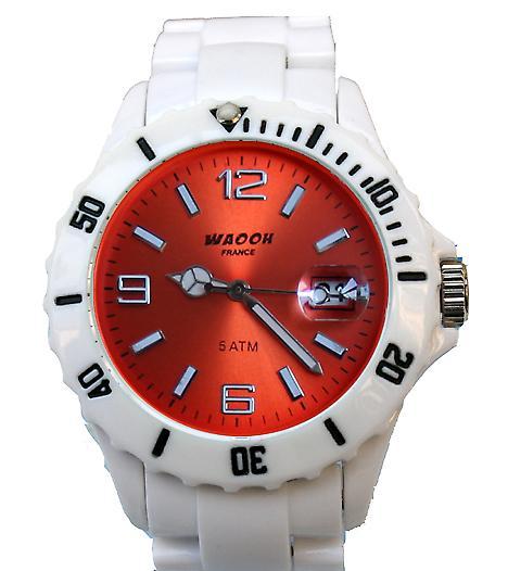 Waooh - Montre MILANO 38 Bracelet Blanc Cadran Couleur