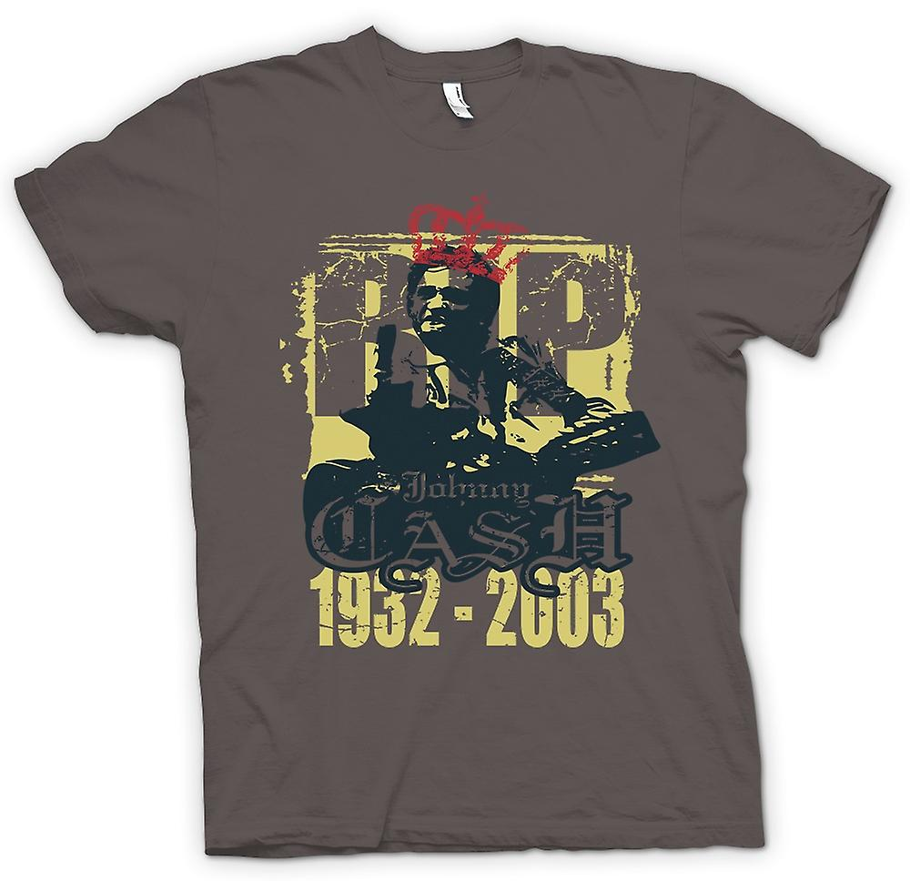 Womens T-shirt - Johhny Cash 1932-2003 - musik Legend