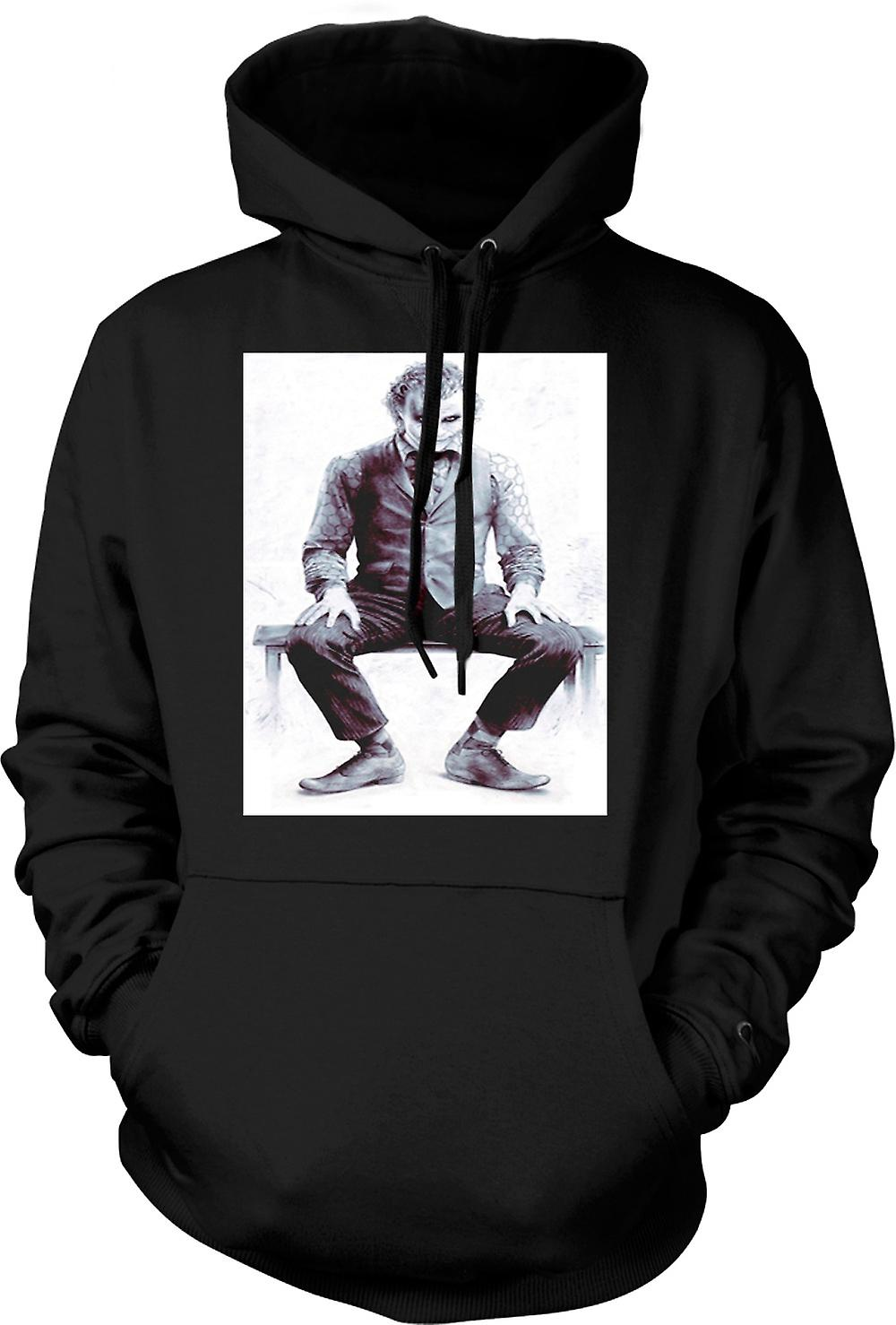 Mens Hoodie - Joker Sitting - Batman