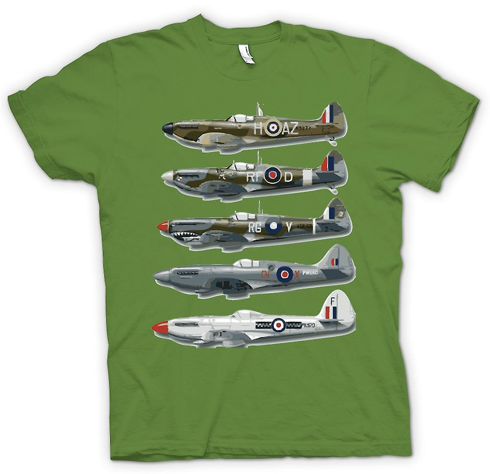 Mens T-shirt - 5 Spitfires Collage - Devis