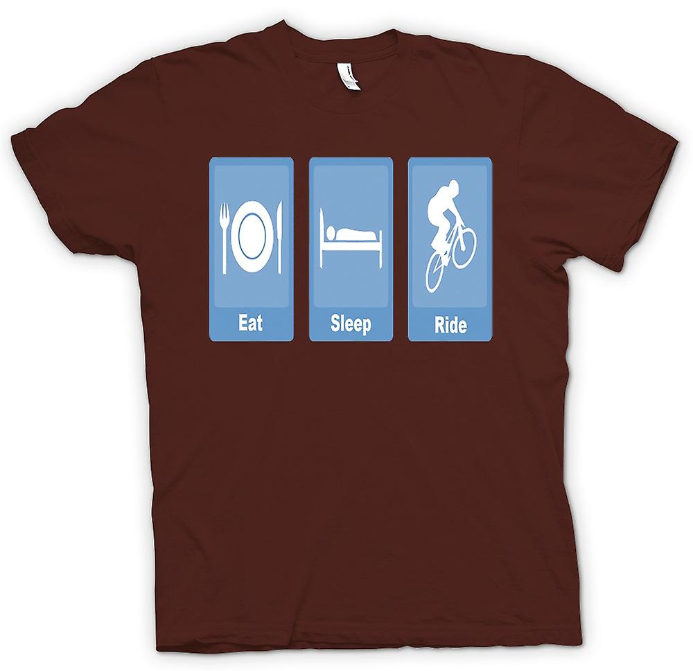 Mens T-shirt - Eat Sleep Ride - Biking