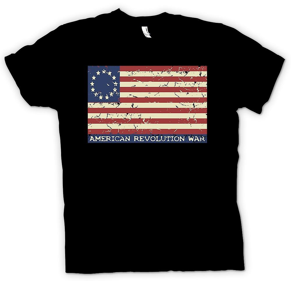 Womens T-shirt-révolution américaine Stars And Stripes