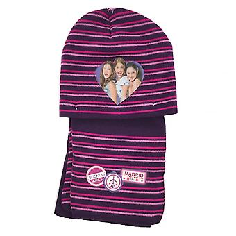 Disney Purple Winter Set-Hat Scarf Dark Pink
