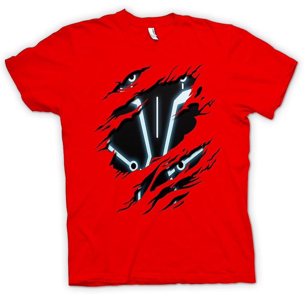 Mens T-shirt - Tron - Sci Fi déchiré Design