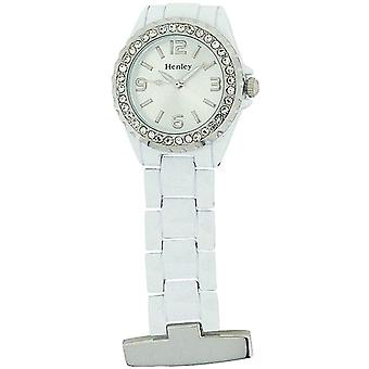 Henley Glamour White Enamel Beauticians Fob Watch HF01.4