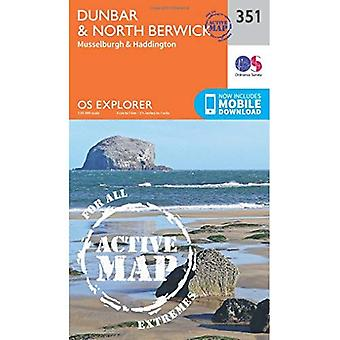 OS Explorer Map Active (351) Dunbar and North Berwick (OS Explorer Active Map)