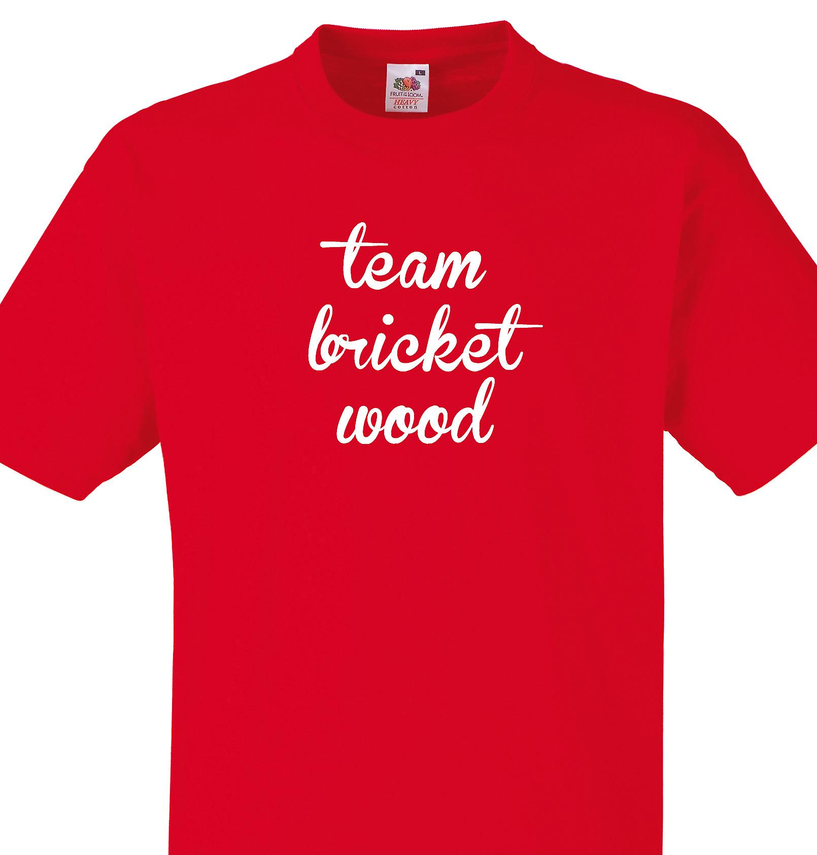Team Bricket wood Red T shirt