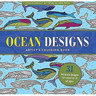 Ocean Designs Adult Coloring Book (31 stress-relieving designs) (Studio)