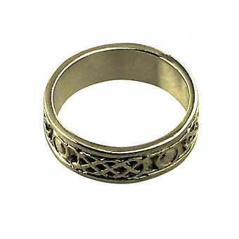 18ct guld 6mm keltisk vigselring storlek H