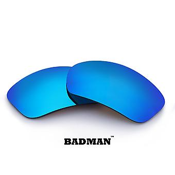 BADMAN Replacement Lenses Polarized Blue Mirror by SEEK fits OAKLEY Sunglasses