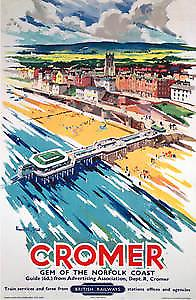 Cromer (pt) (old rail ad.) fridge magnet