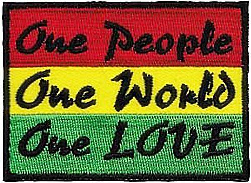 One People Rasta sew-on patch  (cv)