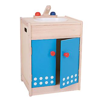 Santoys Wooden Sink & Cupboard Pretend Roleplay Kitchen Learn Play