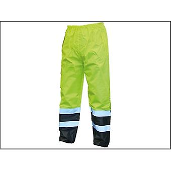 Scan Hi-Vis Motorway Trouser Yellow Black - M (34-36in)