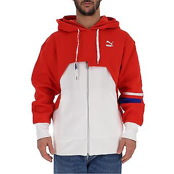 Puma White/red Cotton Outerwear Jacket
