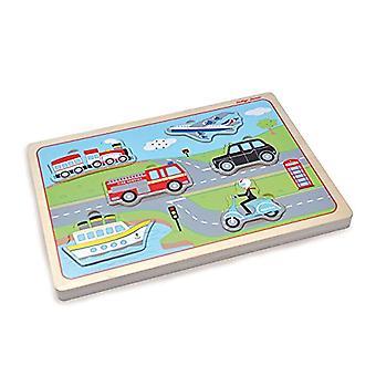 Puzzle di legno suono trasporto Indigo Jamm - progettato per i bambini dai 12 mesi Plus