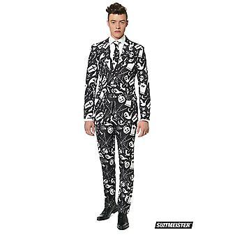 Halloween Horror Suit Black Suit Size XL Men's Suitmeister Slimline Economy OB0014XL