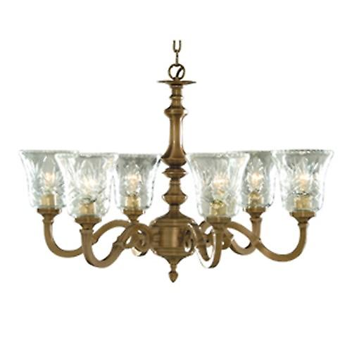 Searchlight 1076-6NG Malaga Traditional 5 Light Solid Brass Chain Pendant