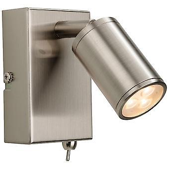Firstlight-LED 3 ljus inomhus vägg Spotlight (bytte) borstat stål-3453BS