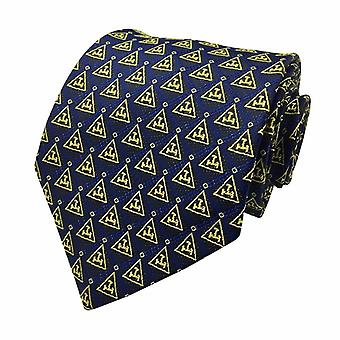 New Design Masonic Royal Arch Tie with Gold Triple Tau Freemasons Necktie