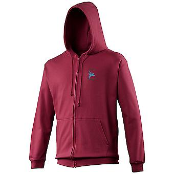 PARA Airborne Brotherhood Parachute Regiment - Pegasus - Con licencia British Army Embroidered Zipped Hoody Hoodie