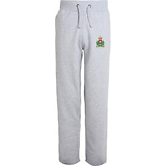 Intelligence Corps Colour - Licensed British Army Embroidered Open Hem Sweatpants / Jogging Bottoms