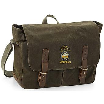 Royal Welsh Fusliers Veteran - Licenza British Army Ricamato Waxed Canvas Messenger Bag
