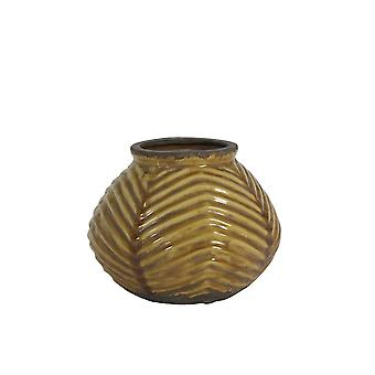 Light & Living Pot Deco Ø23,5x19 Cm KRIDLO Ceramics Ocher