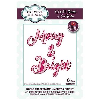 Sue Wilson Die Set Merry & Bright | Noble Expressions